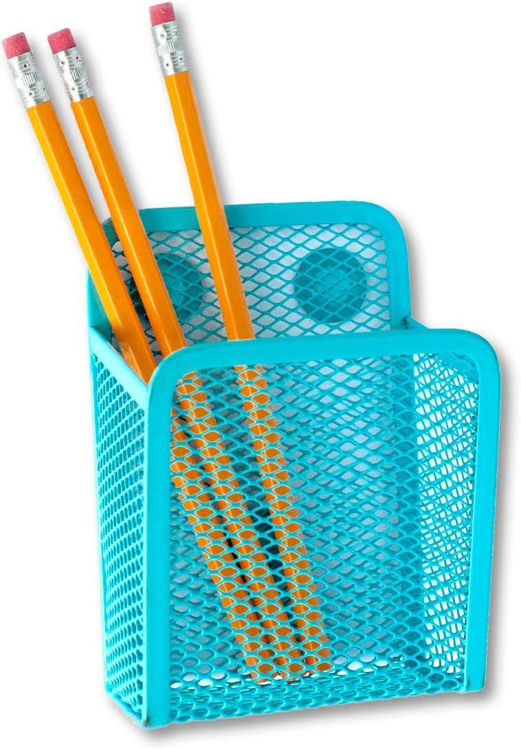 Jennakate- Magnetic Pen Holder - Liquid Chalk Holder- Family Command Center - Magnetic Message Board - Blue