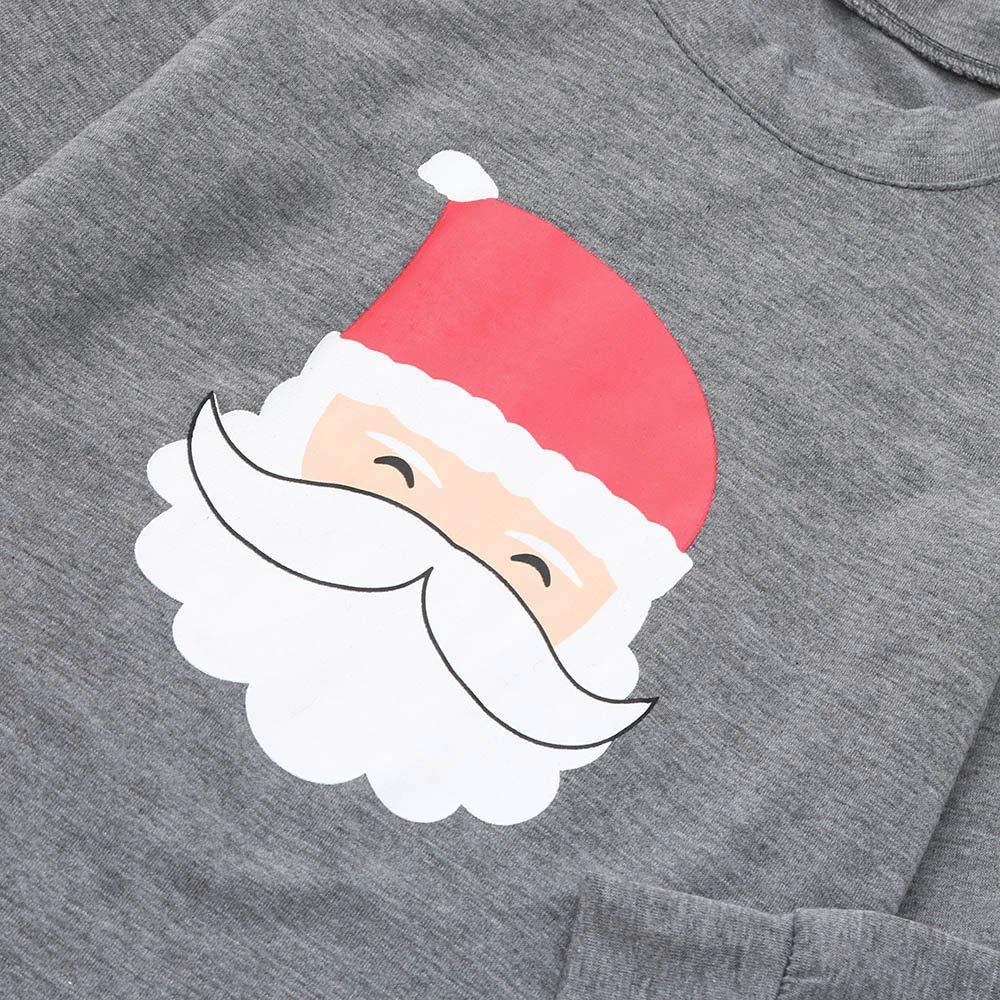 Family Christmas Pajamas Xmas Pajamas Sets Outfit Santa Claus Matching Family PJS Kids Boys Girls Homewear Nightwear by Steagoner Pajamas Sets (Image #4)