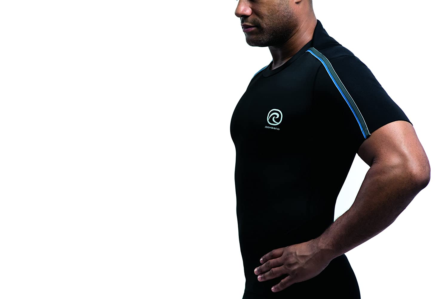 Clothing, Shoes & Accessories Clothing & Accessories Rehband Athletic Thermoshirt Kompressionsshirt Funktionsshirt Shirt Schwarz 7725