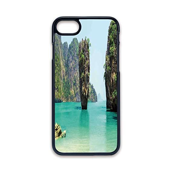 reputable site ebbd9 4a136 Amazon.com: Phone Case Compatible with iPhone7 iPhone8 Black edge ...