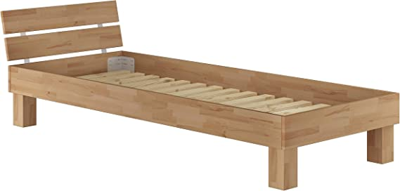 Erst Holz Futonbett Buche Massiv Einzelbett 90x200 Jugendbett Holzbett Gastebett Bett Mit Rollrost 60 86 09 Amazon De Kuche Haushalt