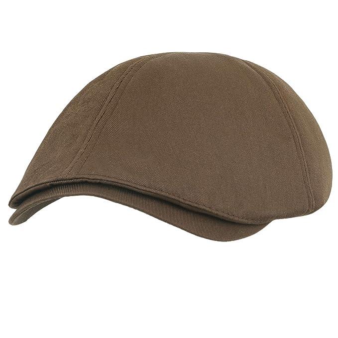 8606847e372a7 ililily Cotton Flat Cap Cabbie Hat Gatsby Ivy Cap Irish Hunting Hat Newsboy  (Medium