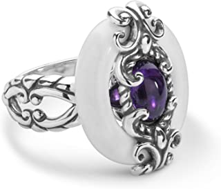product image for Carolyn Pollack Sterling Silver Agate, Amethyst & Rhodochrosite Gemstones Ring Size 6