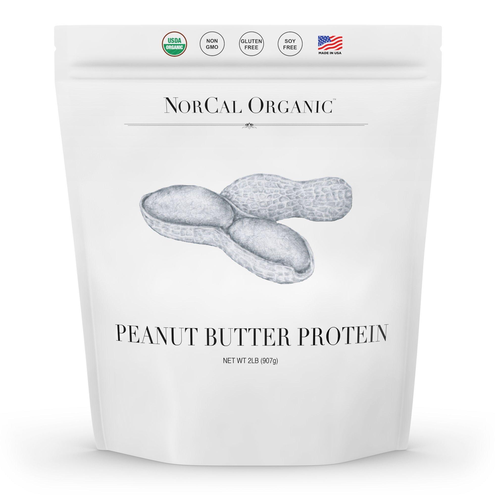 Norcal Organic Peanut Butter Powder, 2lb | 11g Protein, 100 Calories, 41 Servings | Vegan, Natural, Organic, Low Calorie, Source Organic by Source Organic
