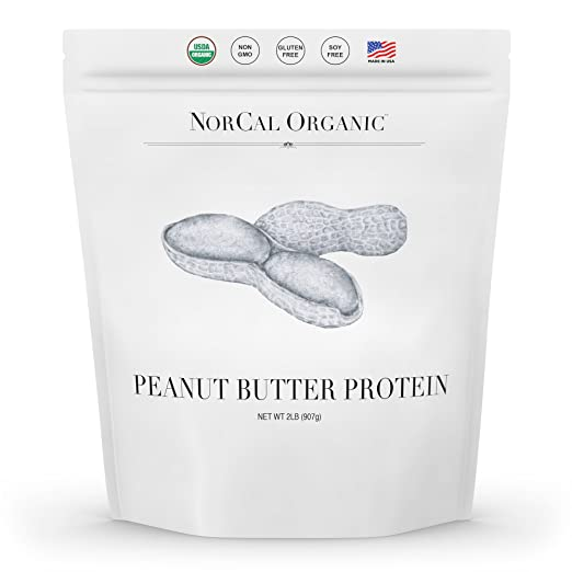 Norcal Organic Peanut Butter Powder, 2lb | 11g Protein, 100 Calories, 41 Servings | Vegan, Natural, Organic, Low Calorie, Source Organic best protein powder