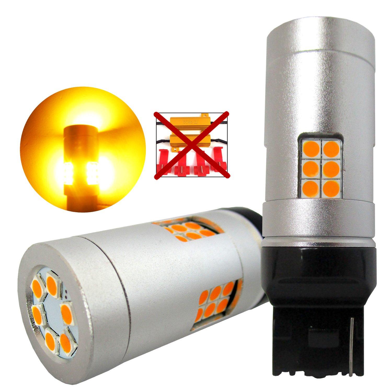 VehiCode Super Bright 4800 Lumens 21W 1156 (7506/1141/1003/BA15S/P21W) LED Light Bulb (6000K White) Built-in Resistor No Hyper Flash CanBus Error Free for Backup Reverse Tail Brake Light (2 Pack)