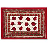 Couleur Nature Placemats, Crocus Red/Green, Set of 6