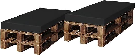 SERMAHOME Pack 2 Colchonetas para Sofas de Palet. Cojines Rellenos de Espuma para Sofa de Exterior.