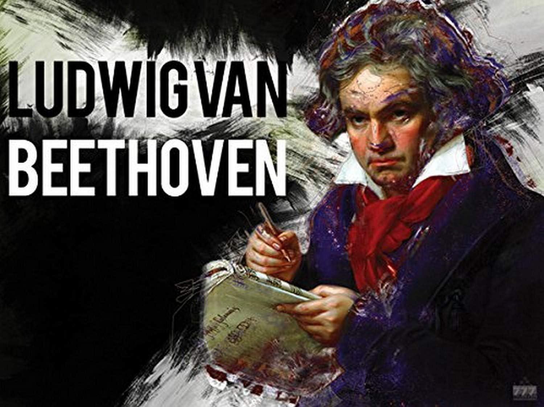 777 Tri-Seven Entertainment Beethoven Poster Music Wall Art Print (24x18)
