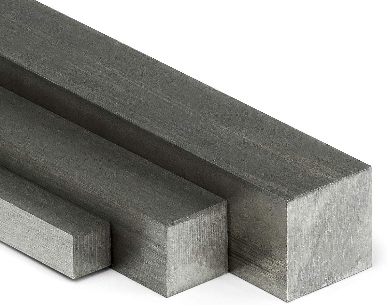 Edelstahl Vierkant VA V2A blank h11-20x20mm L: 75mm auf Zuschnitt 7,5cm