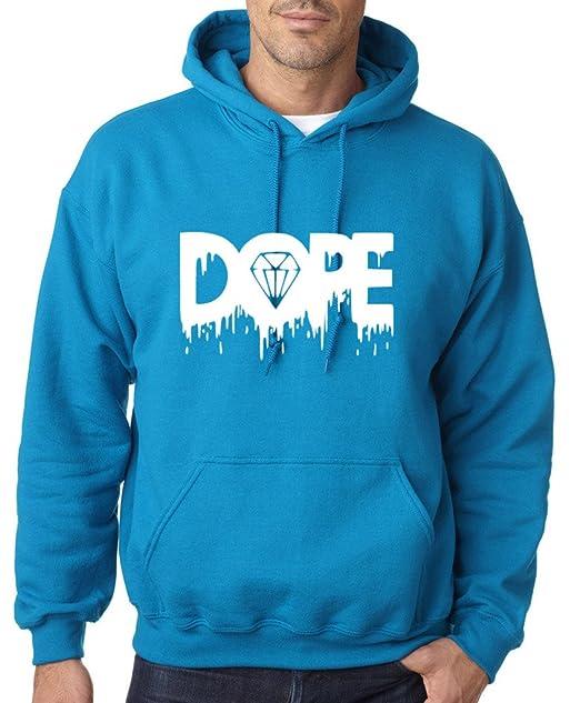 Dope fusión diamante blanco para hombre sudaderas con capucha todos los tamaños colores azul zafiro M