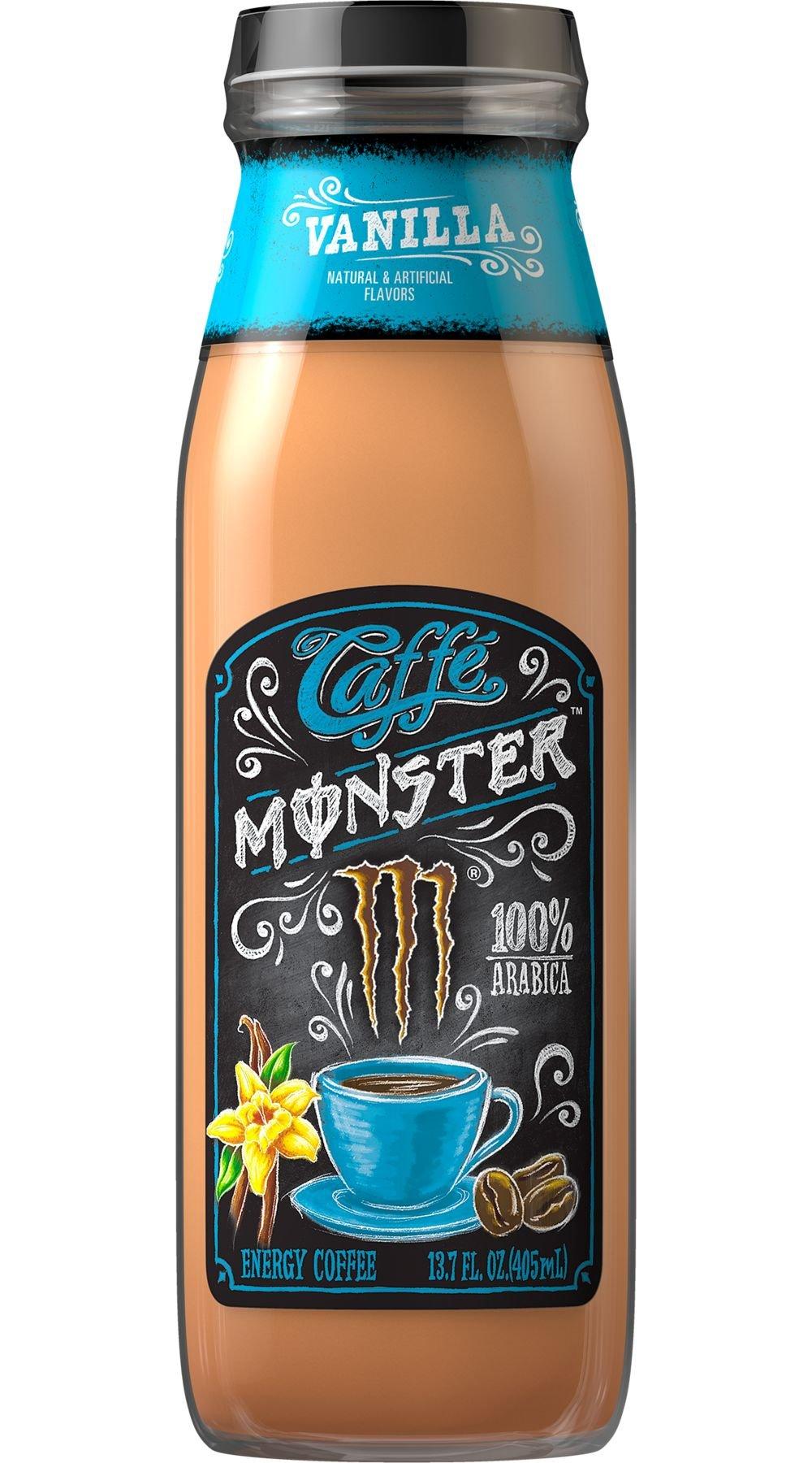 Monster Caffe Vanilla 13.7 oz Bottles - Pack of 12