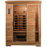 SaunaMed 3 Person Luxury Cedar Infrared Sauna