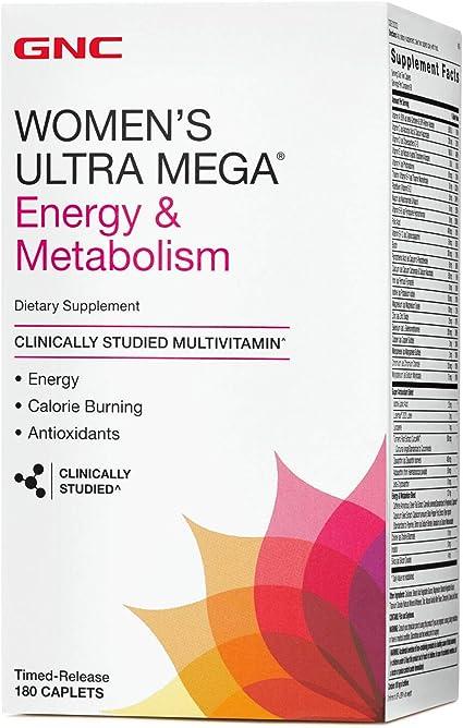 gnc womens ultra mega energy & metabolism vitapak