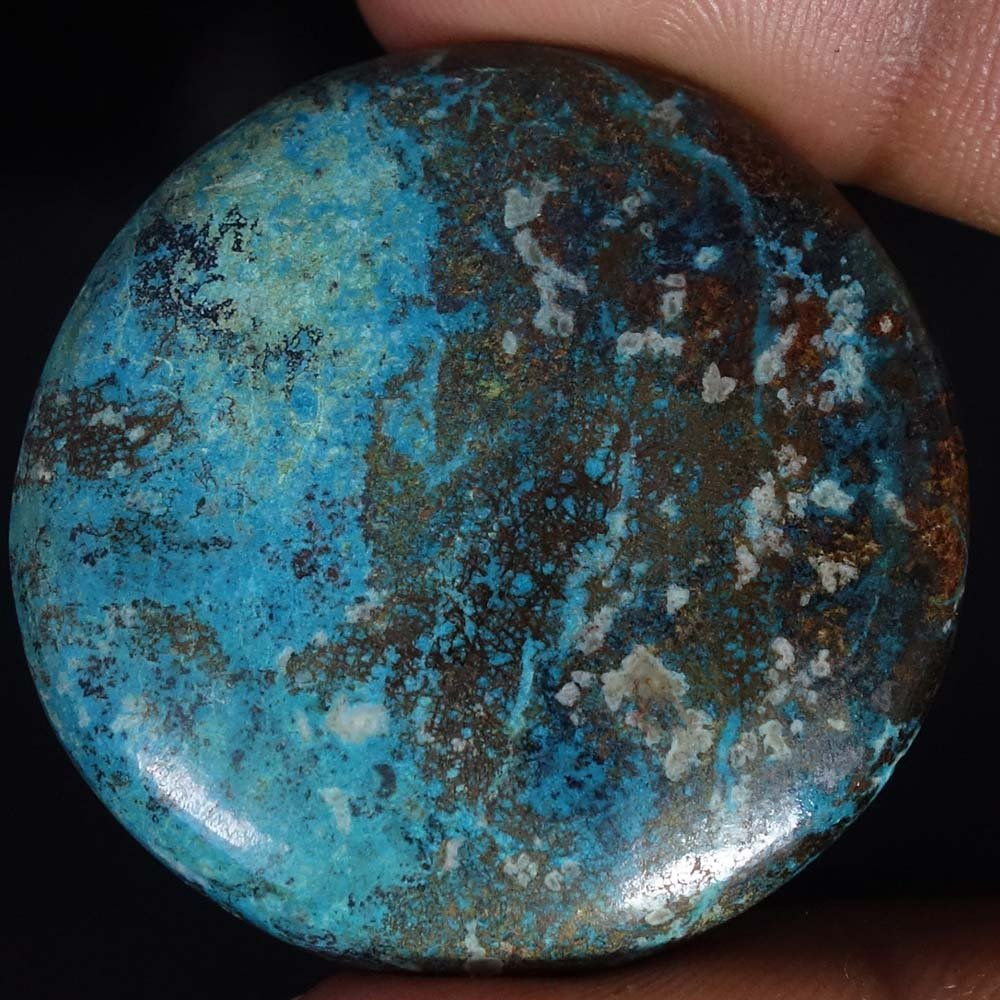 Radheygovind gems 92.75Cts.100% Natural Blue Azurite Round Cab Fine Quality Loose Gemstones