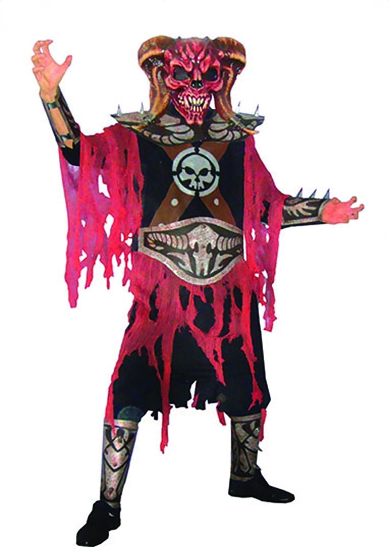 Karnevalsbud - Herren Karnevals-Kostüm Set Zombie Teufel, Teufel, Teufel, One Größe, Mehrfarbig 15b8a8