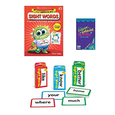Set of 3 Sight Words Flash Cards (Levels A, B and C) with Workbook: Toys & Games