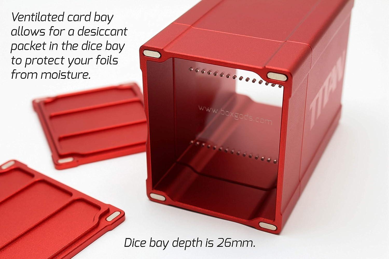 Red Satin Titan Solid Box Gods Premium High Strength Deck Box Case Protector