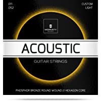 Gitarrensaiten Westerngitarre ★ Premium Stahl Phosphor Bronze Saiten für Western-Gitarre & Akustikgitarre (6 Saiten-Set) + E-Book