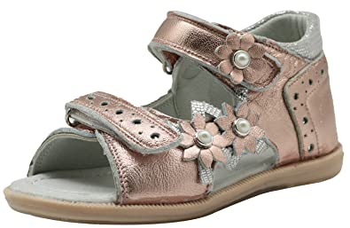 8c104aa201 Apakowa Summer Kids Toddler Girls Open Toe Orthopedic Leather Sandals with  Arch Support (Color :