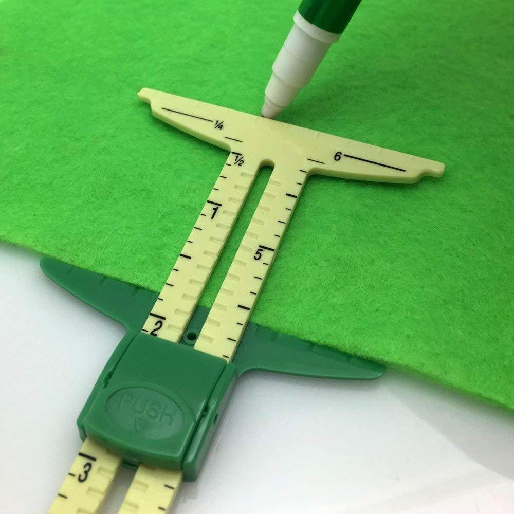 YEQIN 5-IN-1 Sliding Gauge Measuring Sewing Tool 4337012577