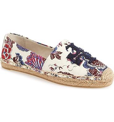 a2425f742b9f4e Tory Burch Women s Navy Happy Times Elisa Espadrilles Shoes (7 M ...