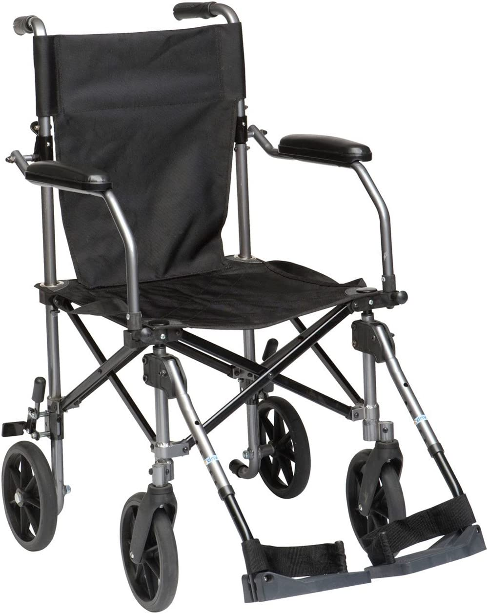 Drive Medical Travelite Transport Wheelchair Chair in a Bag, Black
