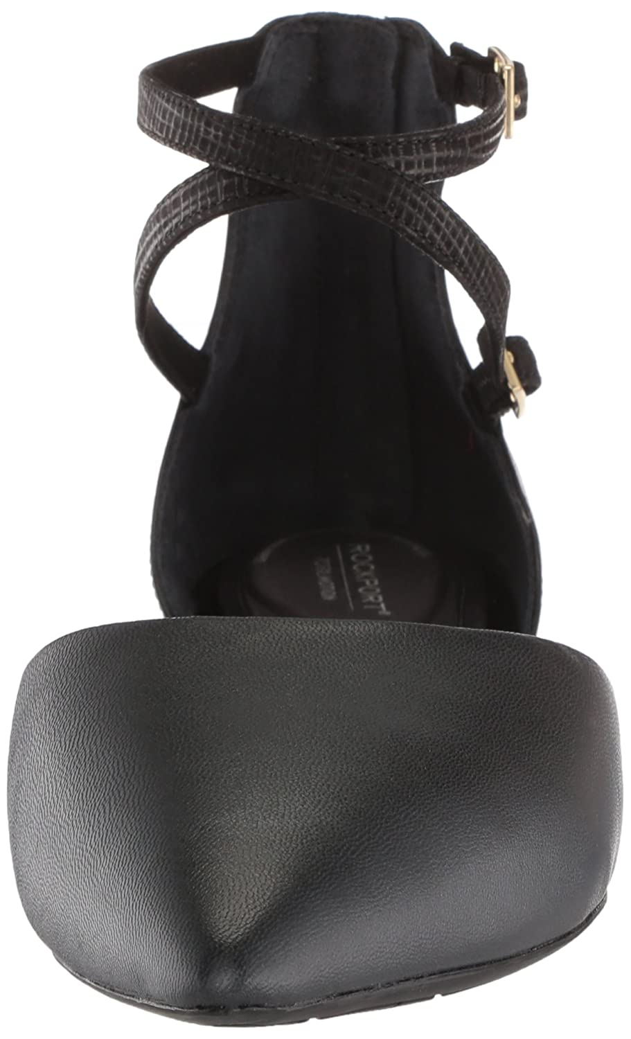Rockport Women's Total 10 Motion Adelyn Ankle Ballet Flat B073ZRQXXC 10 Total B(M) US|Black 7180c2