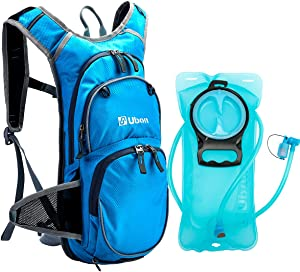 Ubon Lightweight Hydration Backpack with 2L BPA Free Bladder and Helmet Holder