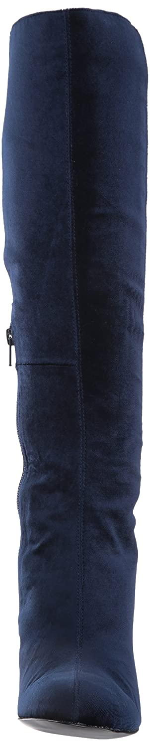 Nine West Women's Knowone Fabric Knee Boot High Boot Knee B0719DLCKS 7 Medium US|navy/navy fabric ca03b3