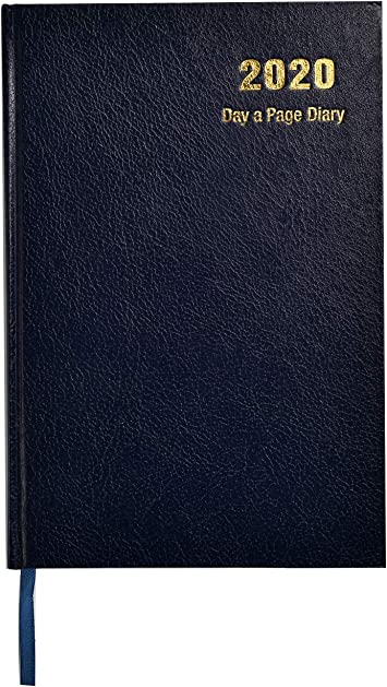 A4 Day to a Page 2020 Desk Diary Appointment Planner Hard Back Office Organiser