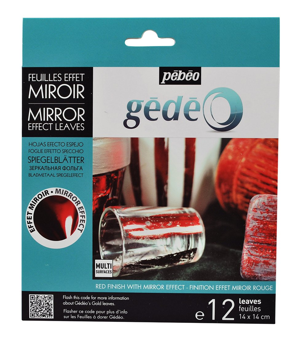 Pebeo 766580 Gedeo Mirror Effect Leaves Adhesive Sheet, Assorted Colors Pebeo Inc.