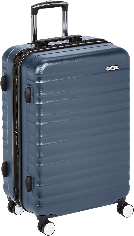 AmazonBasics - Maleta rígida de alta calidad, con ruedas y cerradura TSA incorporada - 78 cm, Azul marino