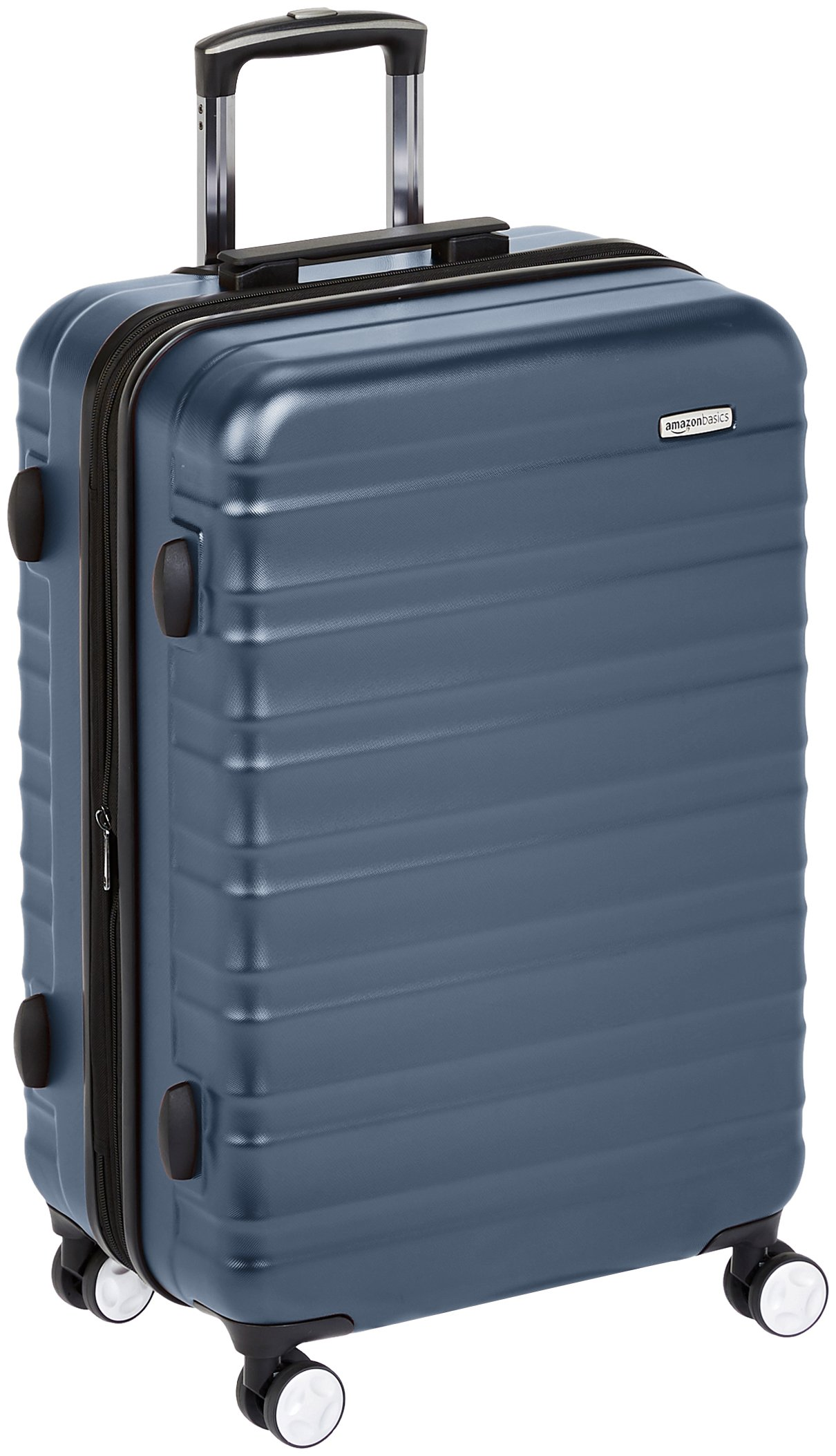 AmazonBasics Premium Hardside Spinner Luggage with Built-In TSA Lock - 28-Inch, Navy Blue