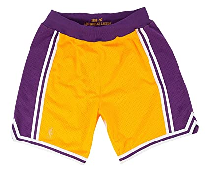 2d8252bf40c Amazon.com   Los Angeles Lakers Mitchell and Ness Authentic Gold ...