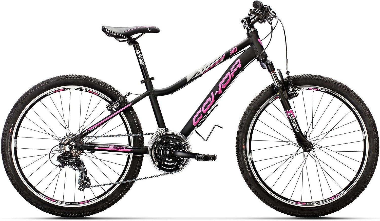 Conor 340 21S Bicicleta Ciclismo Mujer, Negro/Rosa, M: Amazon.es: Deportes y aire libre