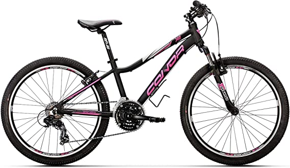 Conor 340 21S Bicicleta Ciclismo Mujer, Negro/Rosa, M: Amazon.es ...