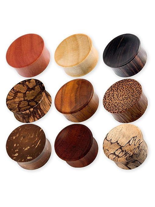 Dilatador de madera de la marca Fly Style®, b, 4mm: Amazon.es ...