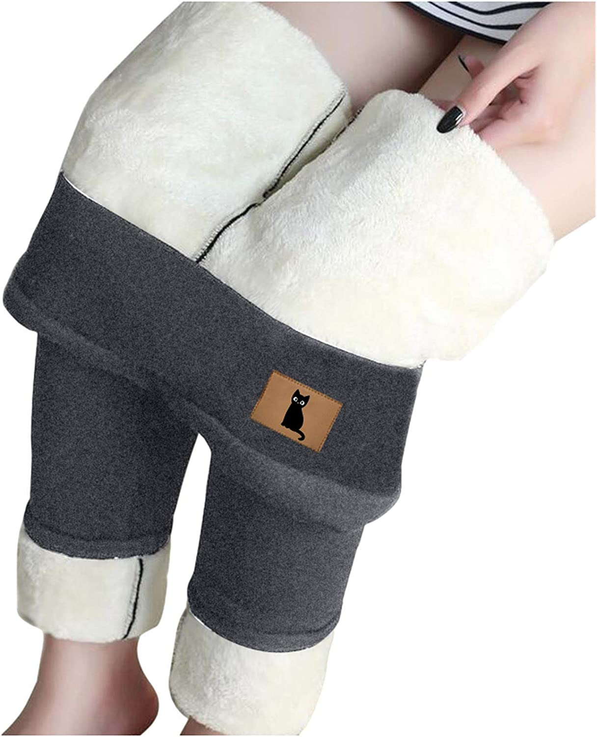 Super Thick Fleece Lined Leggings Women - Thickened Slim Winter Leggings Plush Warm Pants High Waist Elastic Slim Tights