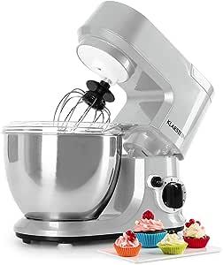 Klarstein Carina - Robot de cocina multifunción (cuenco de acero inoxidable de 4L, 6 velocidades, 800 W, protección antisalpicaduras) plata: Amazon.es: Hogar