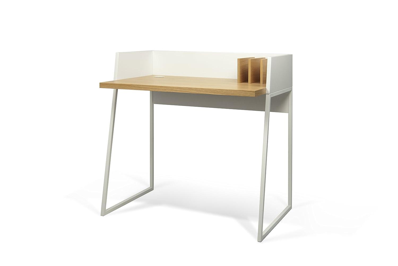 Scrivania In Legno Bianco : Temahome volga scrivania legno bianco rovere cm
