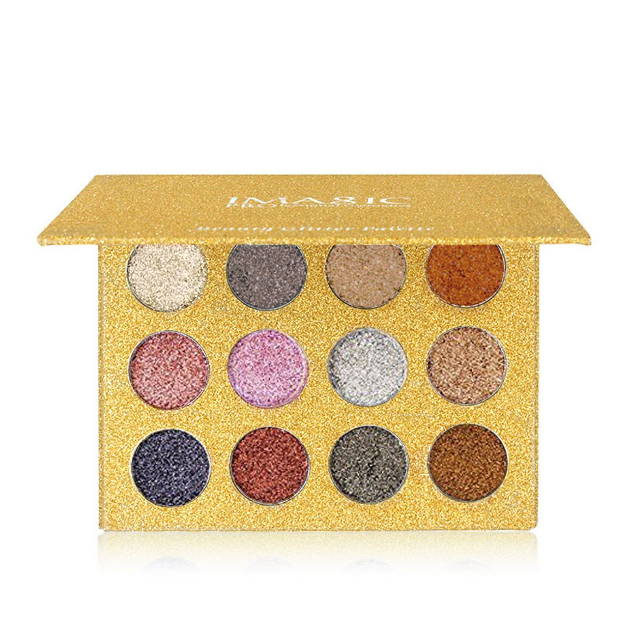 CCbeauty Metallic Eyeshadow Palette Glitter Eye Makeup Diamond Eye Shadow Long Lasting&Shimmer Eyeshadow Highly Pigmented Eyeshadow Palette (#01)