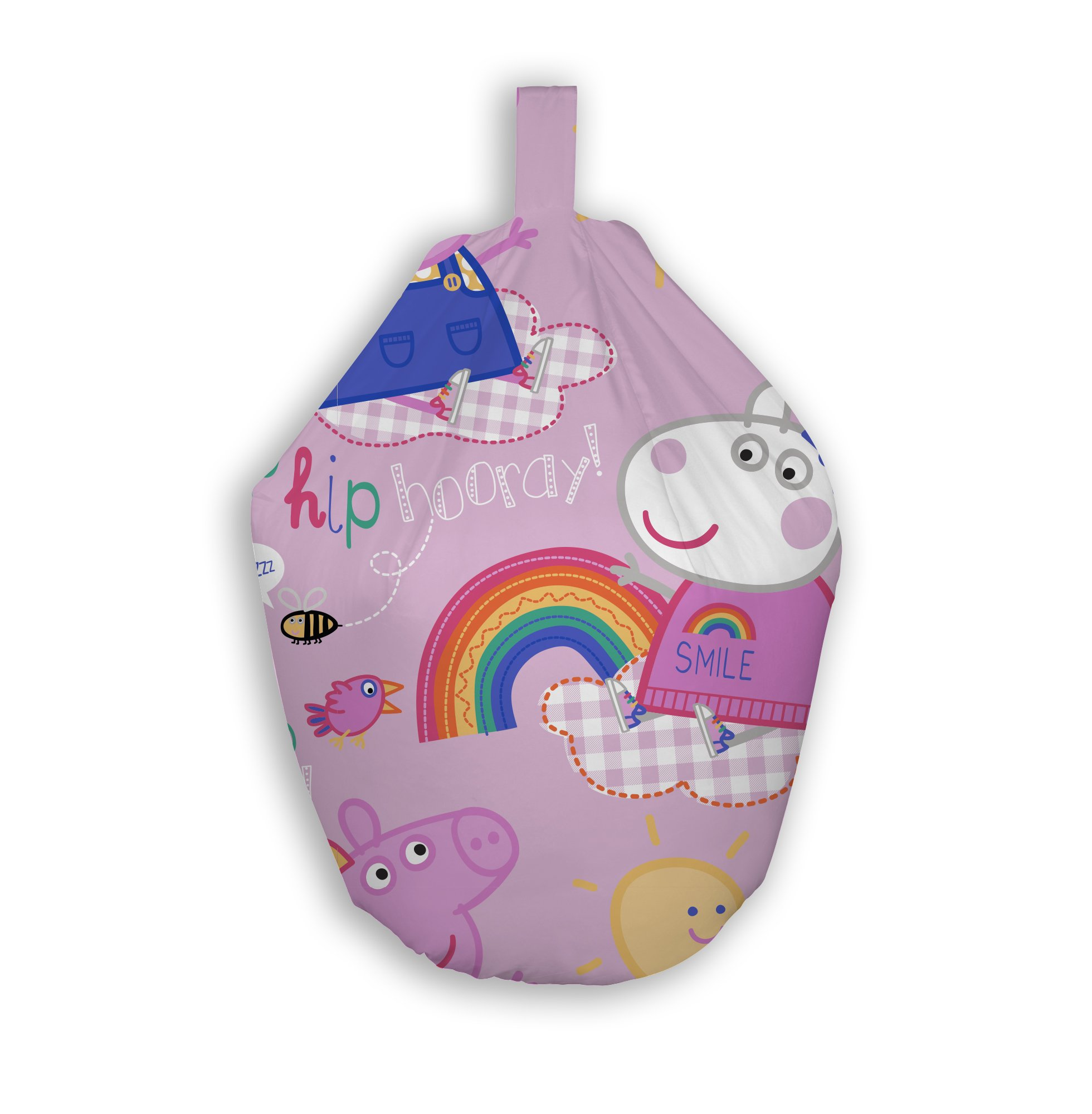 Peppa Pig Hooray Bean Bag Chair Officially Licensed Design Fabric
