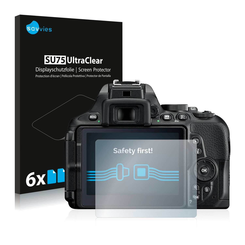 savvies Protector Pantalla Compatible con Nikon D5600 (6 Unidades ...