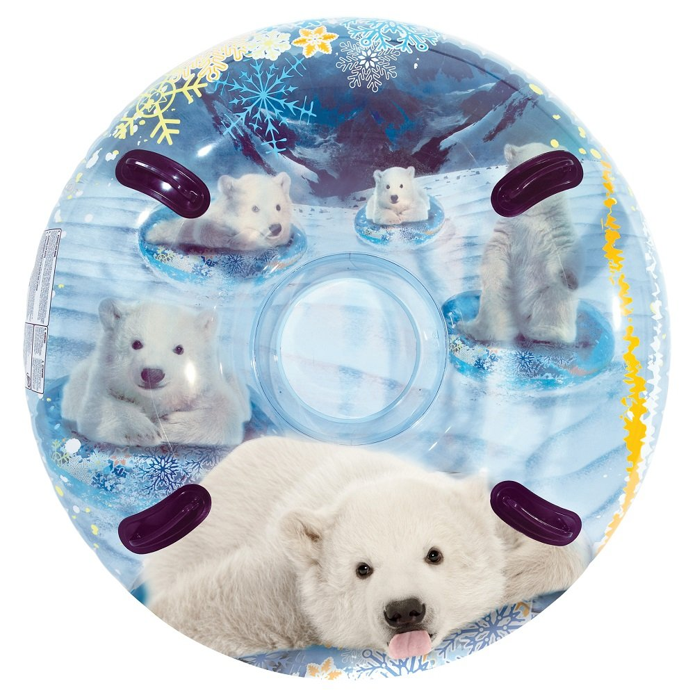 Pipeline 3D MegaBlaster Polar Bear Cleartop Snow Tube, 54 by Pipeline