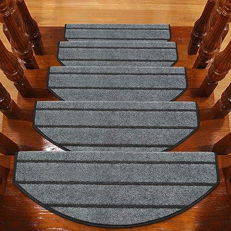 Stair carpet Alfombra de la Escalera del hogar, Alfombrilla para los pies - Alfombra Adhesiva Antideslizante autoadhesiva Antideslizante para el hogar Alfombra de la Escalera de Madera Maciza: Amazon.es: Hogar