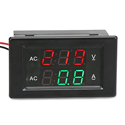 drok 0 39 led 2in1 multimeter ac500v 200a voltmeter ammeter ac rh amazon com Panel Mount Ammeter Moving Iron Instruments Ammeter Panel Mount