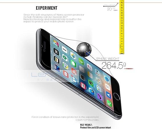 iPhone 6 Screen Protector, [Lifetime Warranty] Lensun Nano Tech Tempered Glass Anti-Shock Screen Protector Film for Apple iPhone 6 4.7