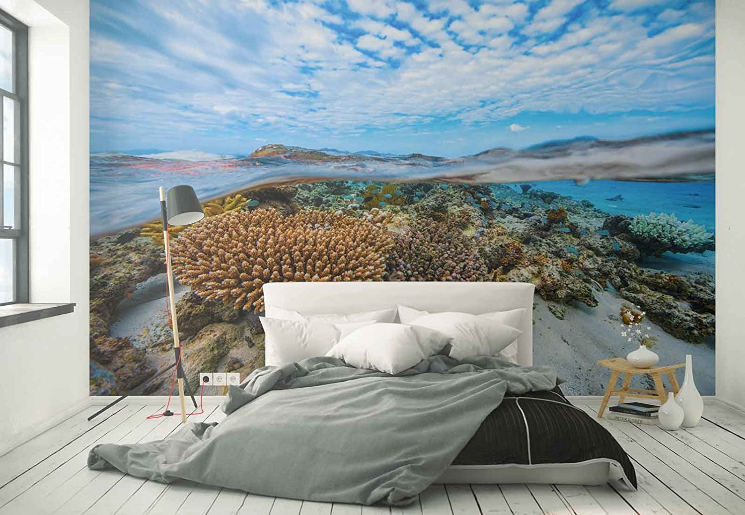 bed in a wall design woodland bedroom decor forest themed.htm photo wallpaper wall mural crystal sea water bottom corals reefs  photo wallpaper wall mural crystal