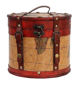 Aubaho Sombrerera 23cm Sombrerero Cajas para Sombrero Estilo Antiguo decoración: Amazon.es: Hogar